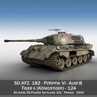 cinema4d sd kfz 182 tiger ii