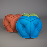 effectivepoly rolf benz pouf 3d model