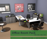 3d model package desk chairs
