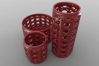 3d vase set model