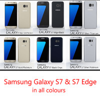 Samsung Galaxy S7 & S7 Edge in all colours