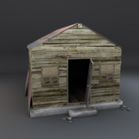 3d old abandoned shack model