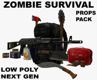zombie survival pack 3d 3ds
