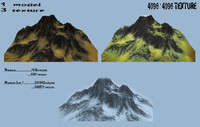 3d model mountain mount