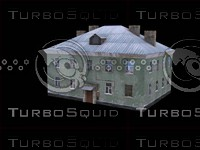 3d russian house 2 floor model
