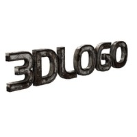 rusty logo text 3d model