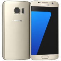3d samsung galaxy s7 gold