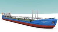 oil ship 3d obj