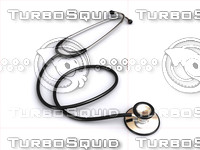 Stethoscope on white surface