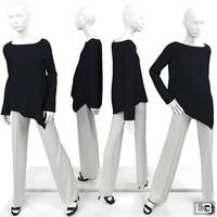 woman mannequin 3d max