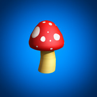 mushroom cartoon 3d max