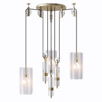 counterweight chandelier light 3d 3ds