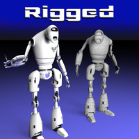 3d guard robot rigged model