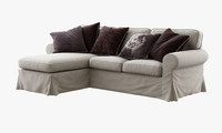 Ikea Ektorp (Two-seat sofa and chaise longue)