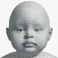 res baby uv unwrapped 3d obj