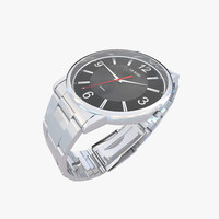 guess watch 3d dwg