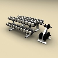 weights rack 3d model