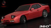 3d max porsche 944 turbo 1989