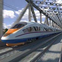 electric trains siemens velaro 3d max
