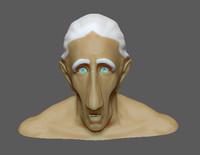 old man head obj