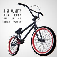 bmx bike 3d obj