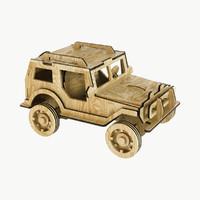 jeep wood 3d model