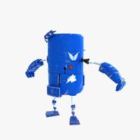 robot cute bot 3d model