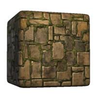 Ancient Mossy Tetris Wall