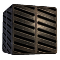 Angled Slat Steel Grating
