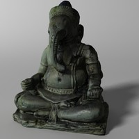 ganesha elephant 3d model