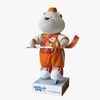 3d olympic bear fur 2014 model