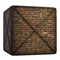 Metal Frame Brick Wall