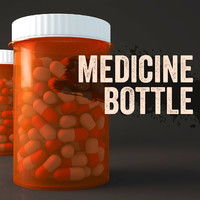medicine bottle 3d 3ds