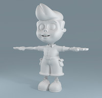 3d cartoon child