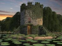3d 3ds medieval castle