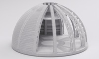 3d model dome architecture 2016 raw