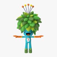 3d rigged rio mascot tom