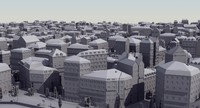 european city mass modeled 3d model