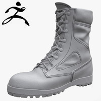 3d model belleville army boot zbrush
