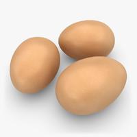 realistic eggs brown obj