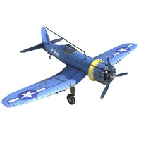 Low Poly WWII Aircraft F4U Corsair