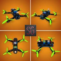 3d model of zmr250 racing drone