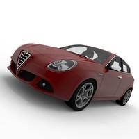 3d alfa romeo giulietta model