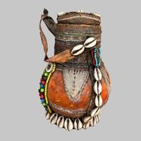 primitive calebas drink 3d model