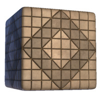 Paving Stone Square Diamond Pattern