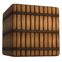 Wood Planks with Metal Beams