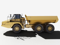 heavy mining truck articulated 3d model