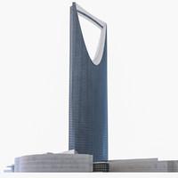 kingdom centre tower riyadh 3d model
