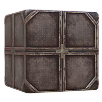 Metal Sci Fi Diamond Plate Grid Rusty