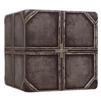 Metal Sci Fi Diamond Plate Grid Rusty